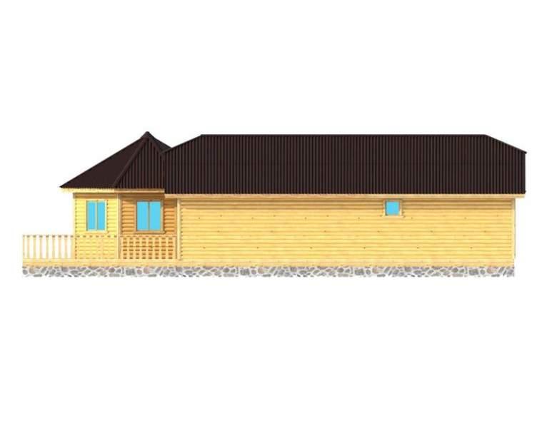 Каркасный дом АФК-128 (нажмите для увеличения)