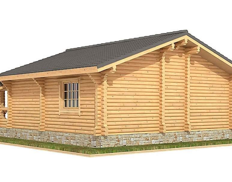 Дом из оцилиндрованного бревна ДК-103 (нажмите для увеличения)