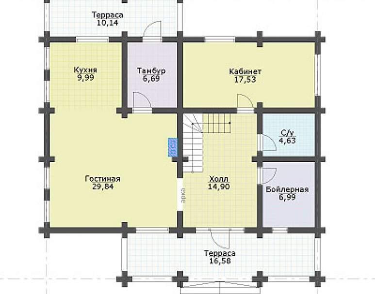 Дом с террасой ДК-105 (нажмите для увеличения)