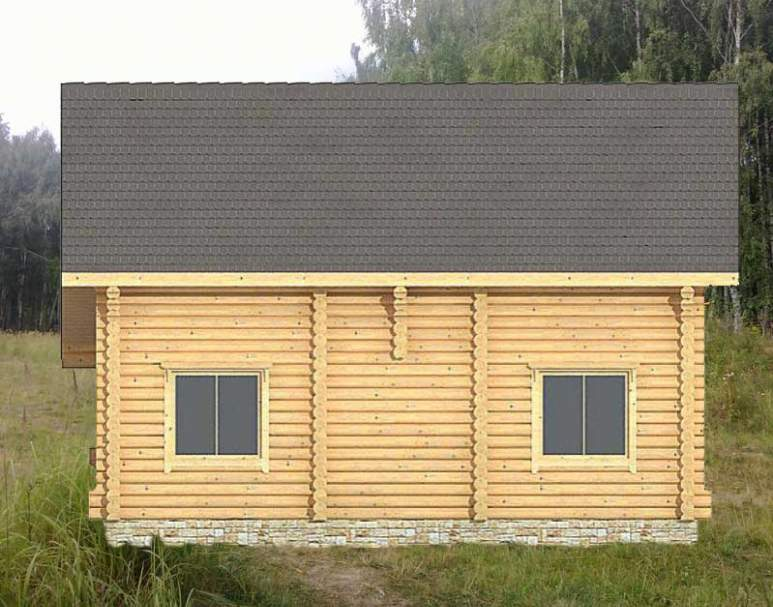 Двухэтажный дом из кругляка ДК-109 (нажмите для увеличения)