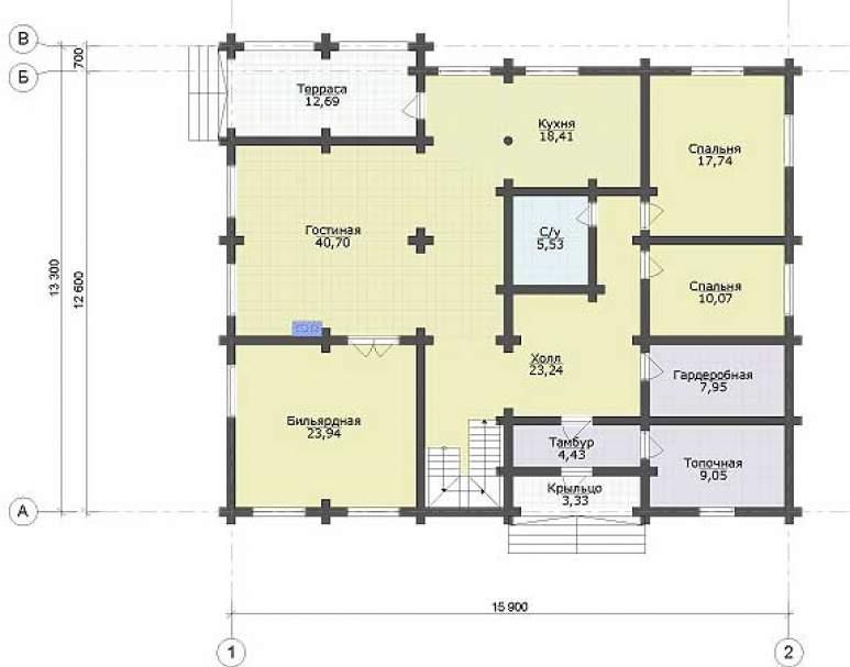 Дом из кругляка ДК-111 (нажмите для увеличения)