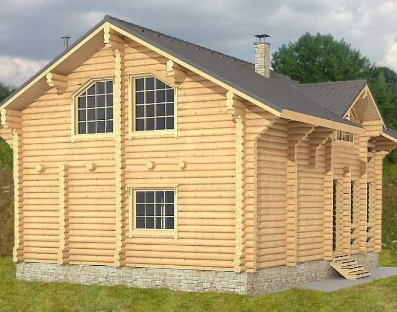 Дом из оцилиндрованного бревна ДК-112 (нажмите для увеличения)