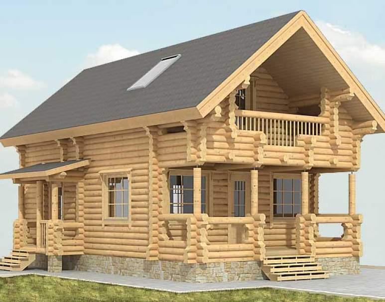Дом из бревна ДК-113 (нажмите для увеличения)