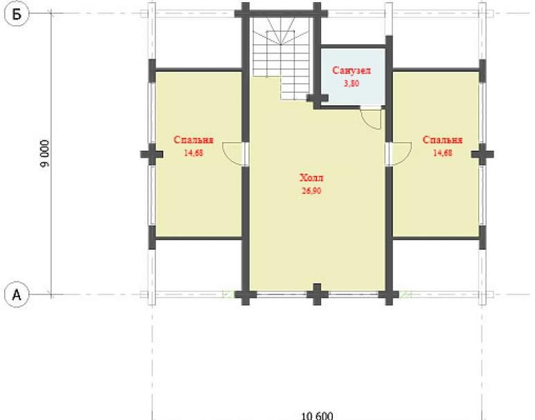 Дом из кругляка ДК-117 (нажмите для увеличения)