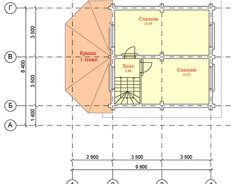 Дом из кругляка ДК-101 (нажмите для увеличения)
