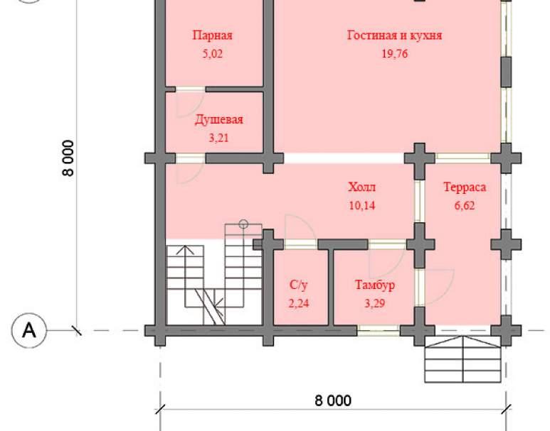 Дом из кругляка ДК-125 (нажмите для увеличения)