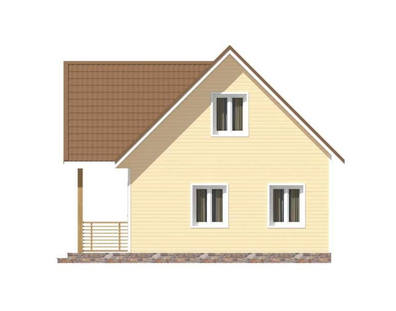 Каркасный дом КСД-04 (нажмите для увеличения)