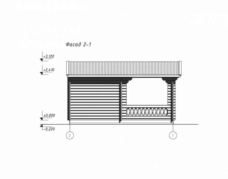 Беседка деревянная БД-13 (3.8х5.5) (нажмите для увеличения)