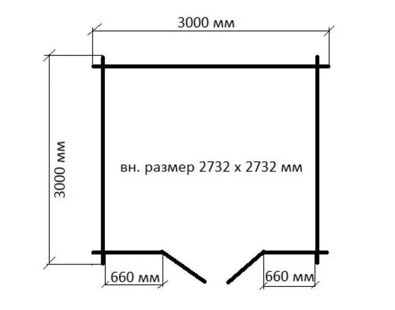 Хозблок из бруса ХБ-01 (нажмите для увеличения)