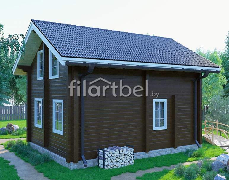 Дом из бруса БД-04 (нажмите для увеличения)