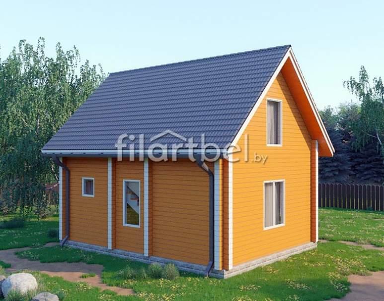 Дом из бруса БД-07 (нажмите для увеличения)