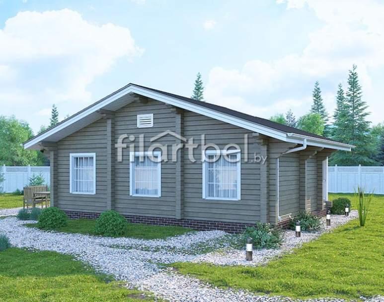Дом из бруса БД-13 (нажмите для увеличения)