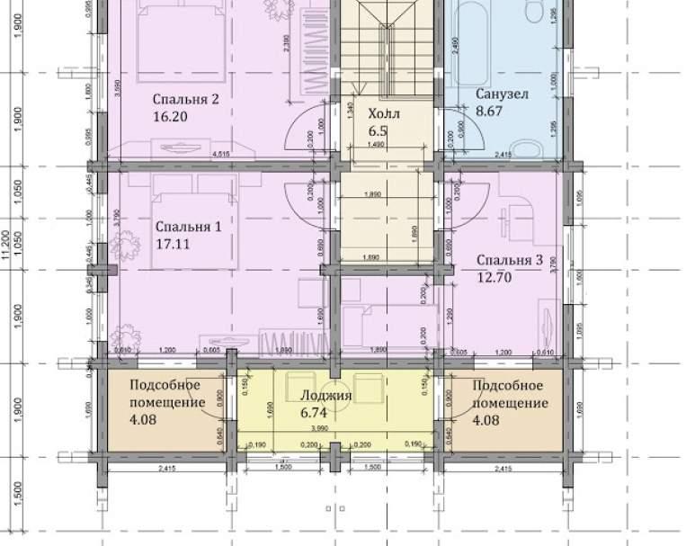 Дом-шале ФАБ-114 (нажмите для увеличения)