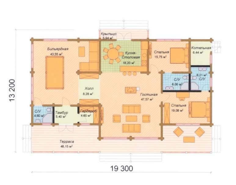 Финский дом ФАБ-120 (нажмите для увеличения)