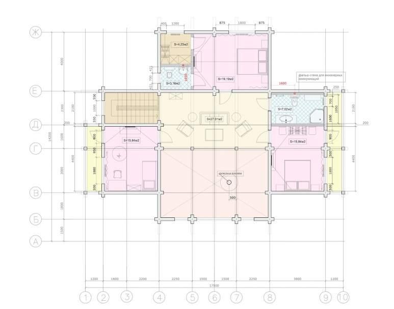Деревянный коттедж ФАБ-121 (нажмите для увеличения)
