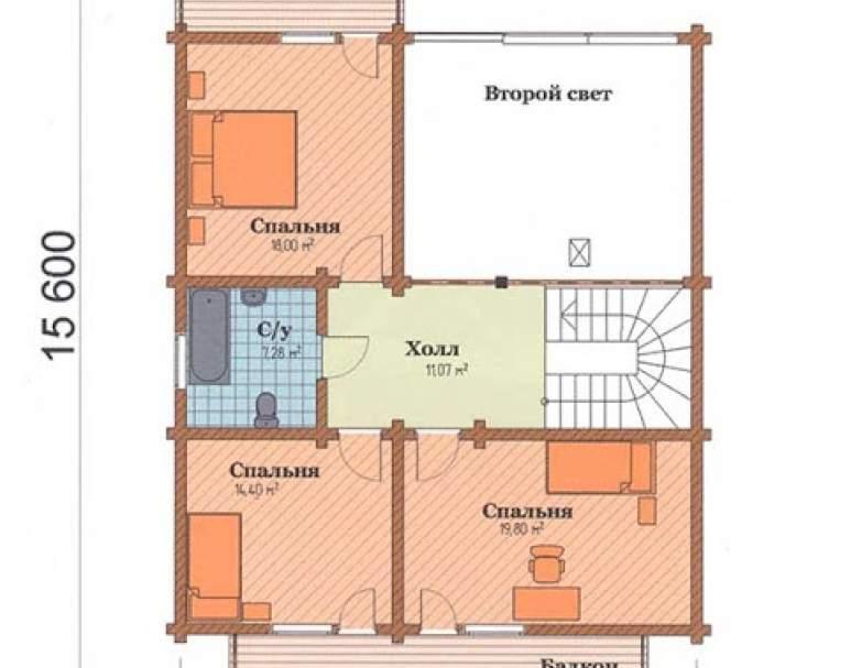 Деревянный дом ФАБ-122 (нажмите для увеличения)