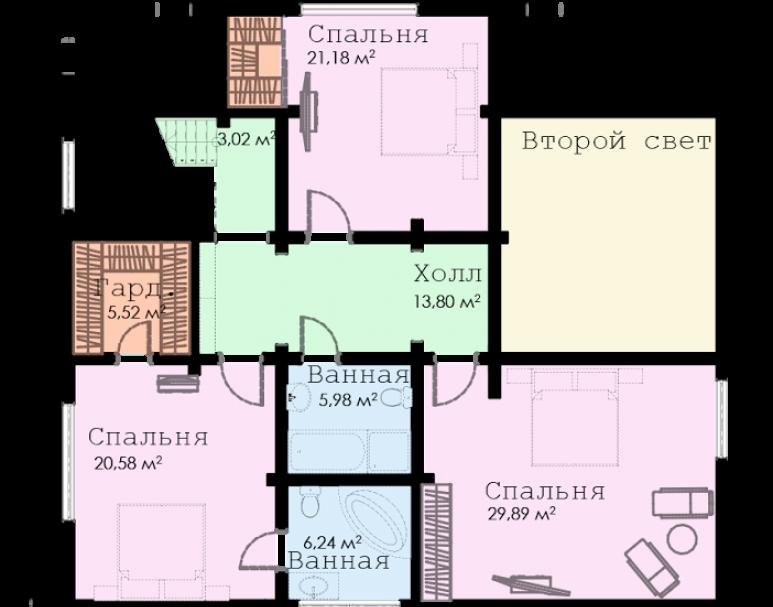 Европейский коттедж ФАБ-128 (нажмите для увеличения)