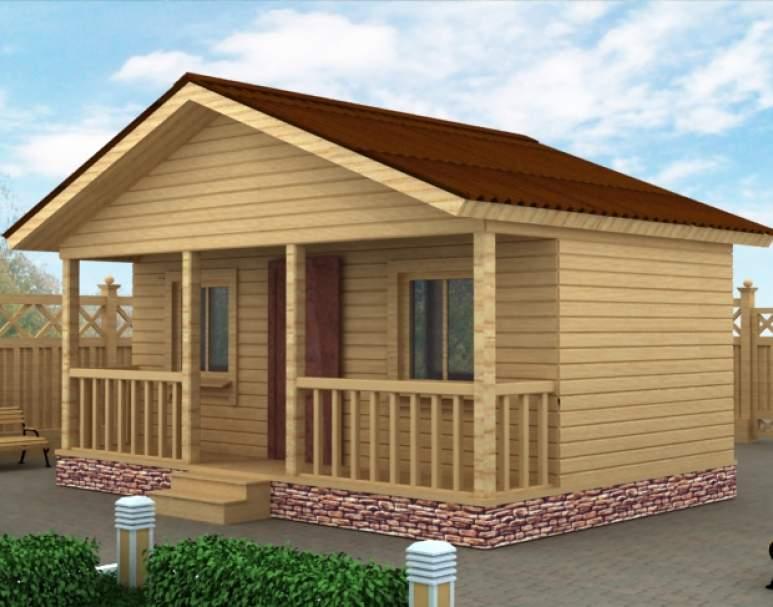 Дачный дом из бруса ДД-1 (нажмите для увеличения)