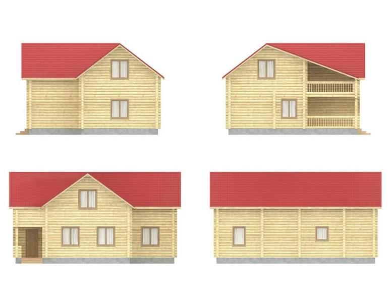 Дом из оцилиндрованного бревна ОБ-31 (нажмите для увеличения)