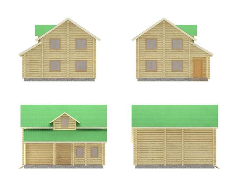 Дом из оцилиндрованного бревна ОБ-10 (нажмите для увеличения)