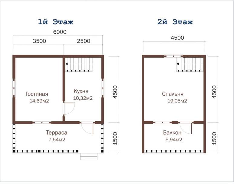 Дом из бруса ДД-9 (нажмите для увеличения)