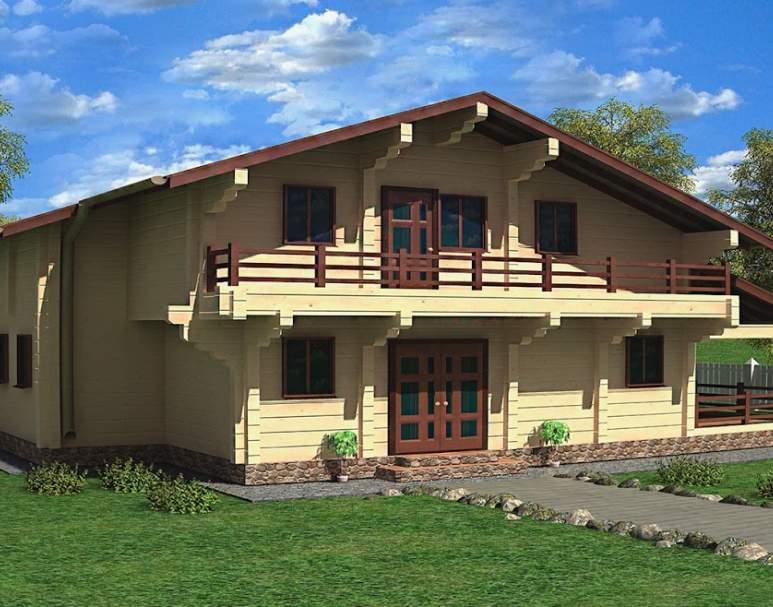 Деревянный дом-шале ФАБ-110 (нажмите для увеличения)