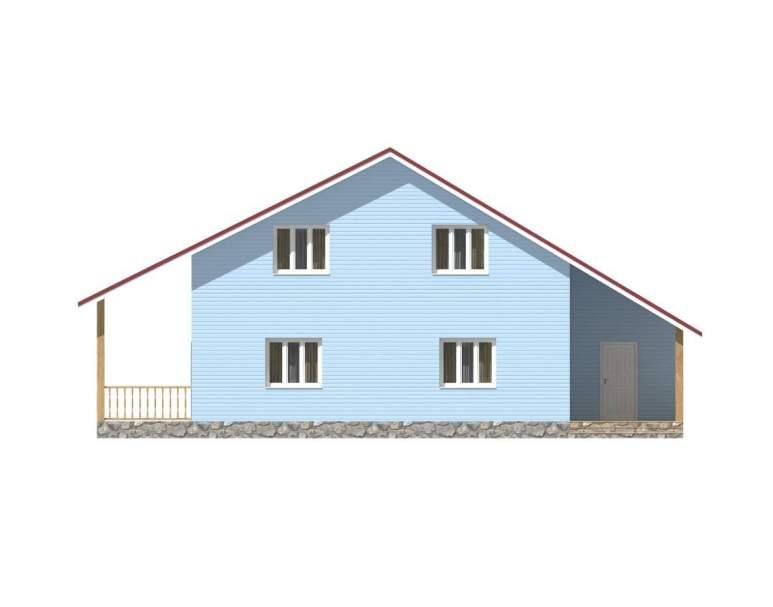 Каркасный дом КСД-18 (нажмите для увеличения)