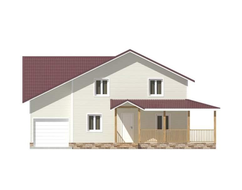 Каркасный дом КСД-12 (нажмите для увеличения)