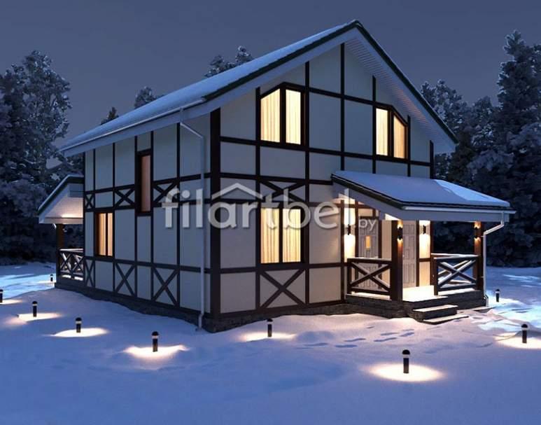 Каркасный дом КД-01 (нажмите для увеличения)