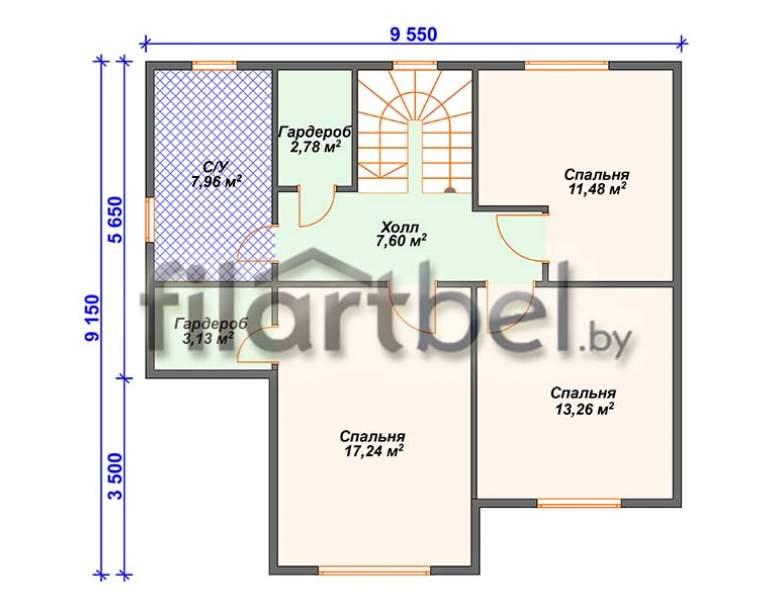 Каркасный дом КД-03 (нажмите для увеличения)