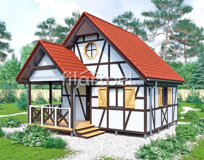 Каркасный дом КД-06 (нажмите для увеличения)