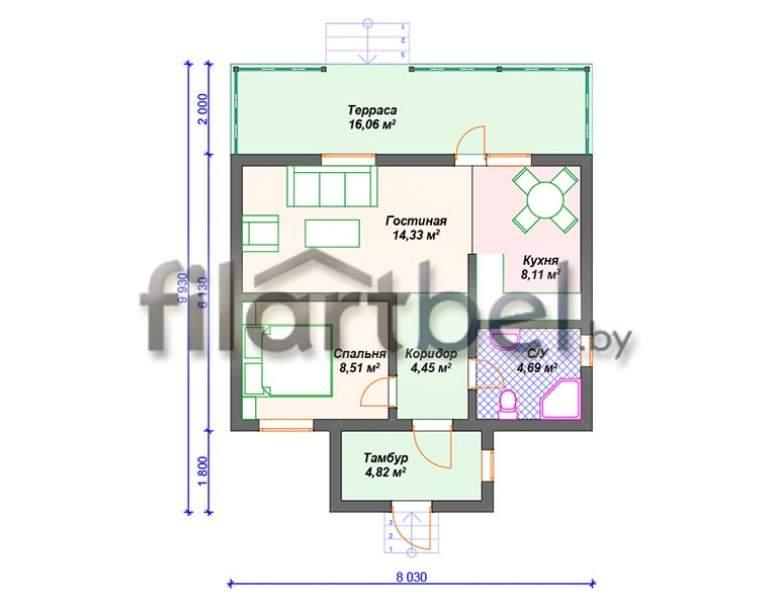 Каркасный дом КД-09 (нажмите для увеличения)