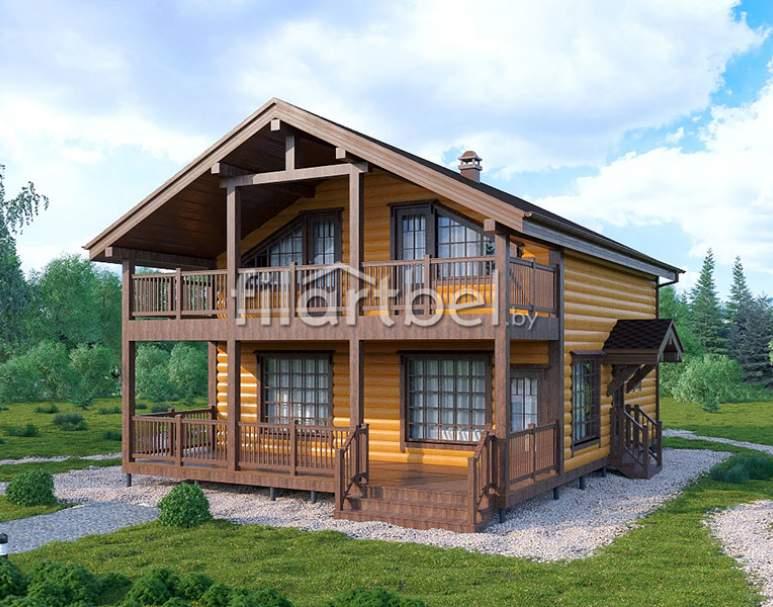 Каркасный дом КД-13 (нажмите для увеличения)