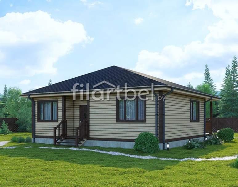 Каркасный дом КД-14 (нажмите для увеличения)