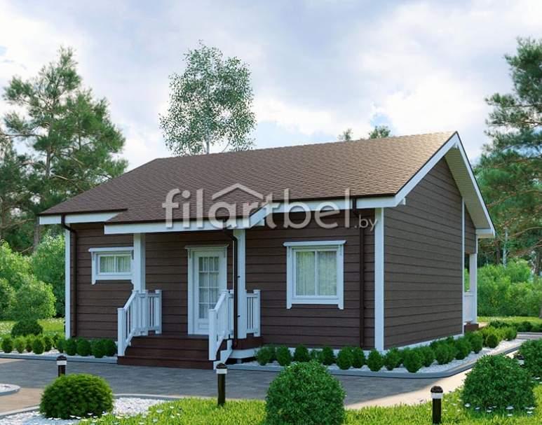 Каркасный дом КД-15 (нажмите для увеличения)