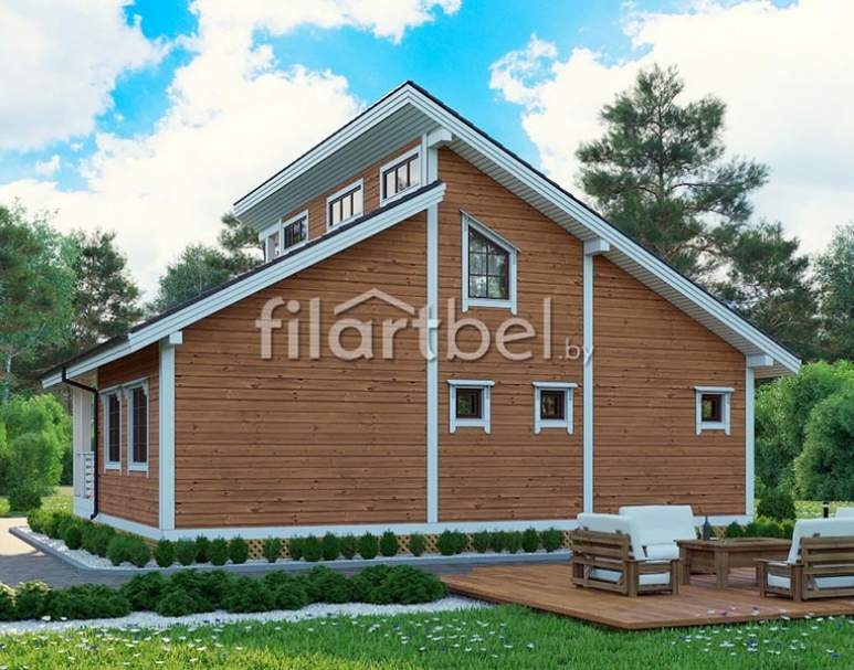 Каркасный дом КД-16 (нажмите для увеличения)