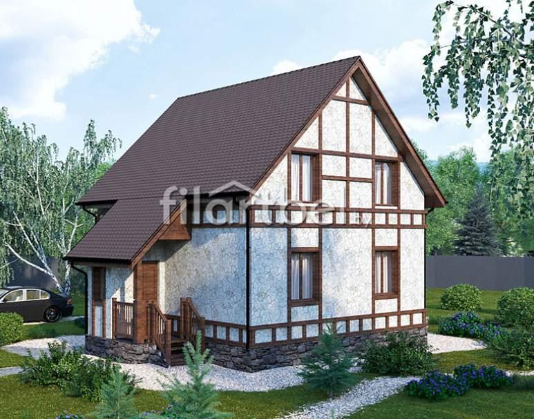 Каркасный дом КД-17 (нажмите для увеличения)