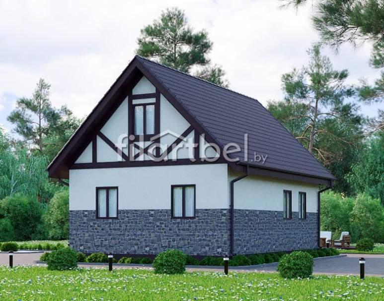 Каркасный дом КД-19 (нажмите для увеличения)