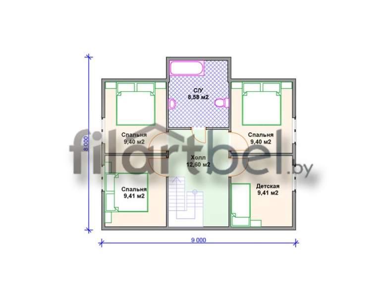 Каркасный дом КД-20 (нажмите для увеличения)