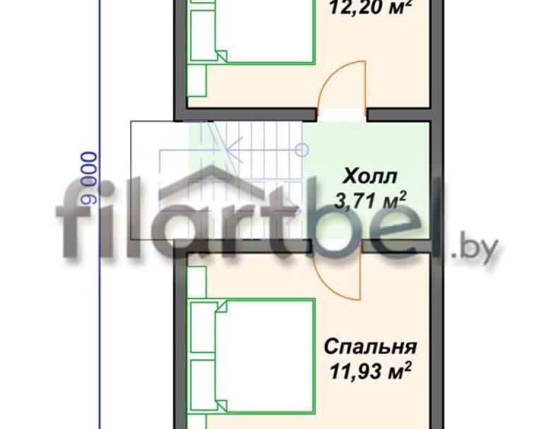 Каркасный дом КД-25 (нажмите для увеличения)