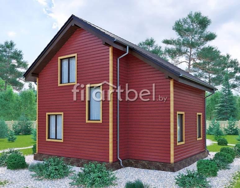 Каркасный дом КД-27 (нажмите для увеличения)