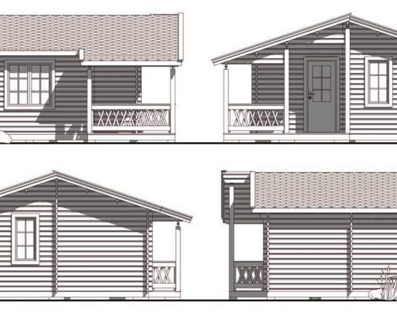Летний брусовой дом ЛД-8 (5.6х5.4) (нажмите для увеличения)