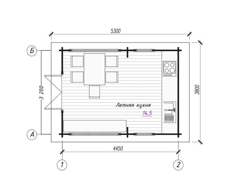 Летняя кухня ЛК-1 (нажмите для увеличения)
