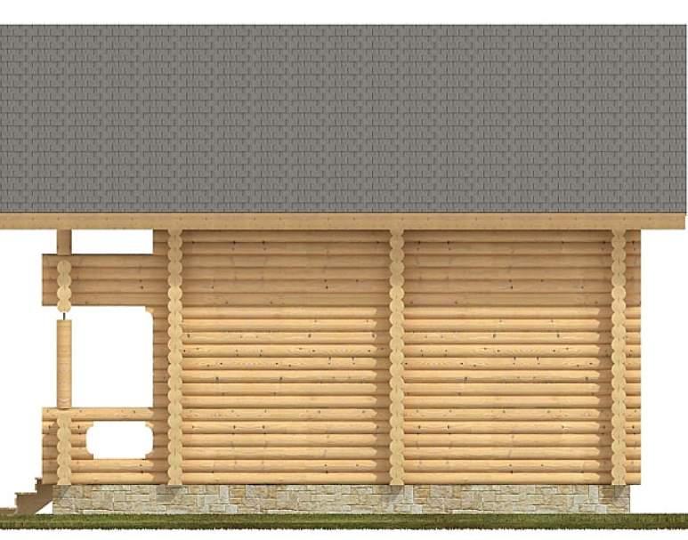 Двухэтажная баня из бревна СБ-110 (нажмите для увеличения)