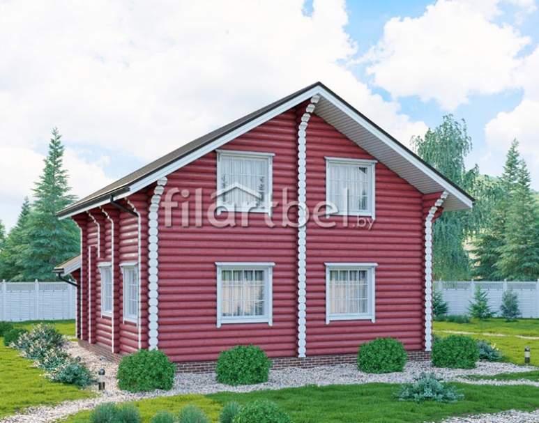 Дом из оцилиндрованного бревна ОД-17 (нажмите для увеличения)