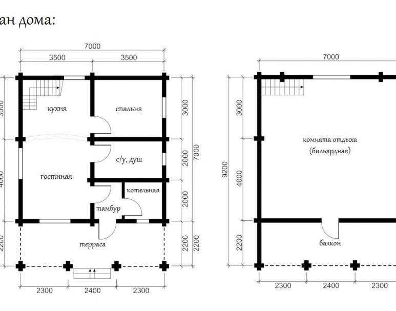 Дом из кругляка ОБ-17 (нажмите для увеличения)