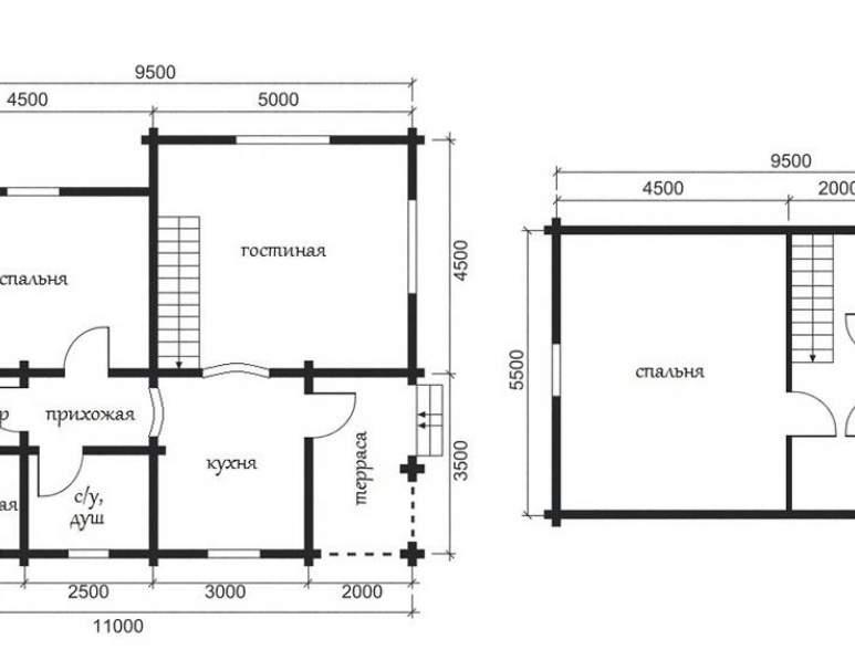 Дом из кругляка ОБ-20 (нажмите для увеличения)
