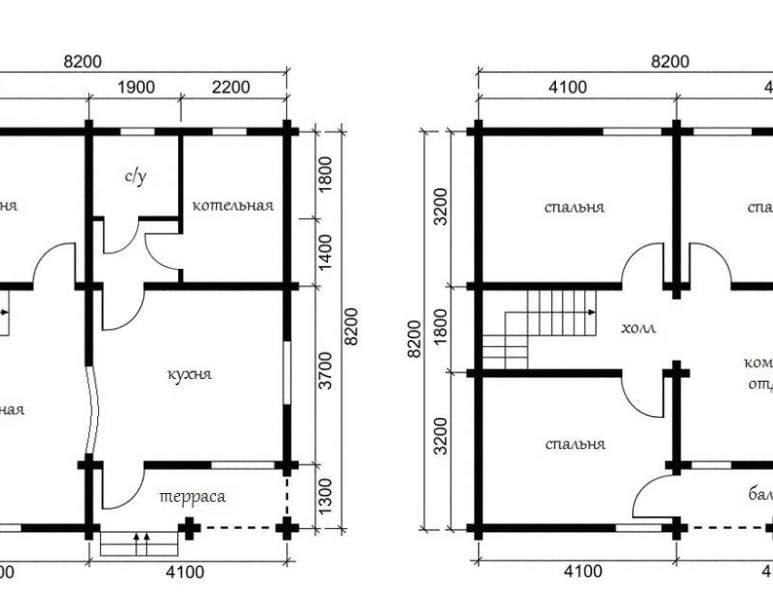 Дом из оцилиндрованного бревна ОБ-26 (нажмите для увеличения)