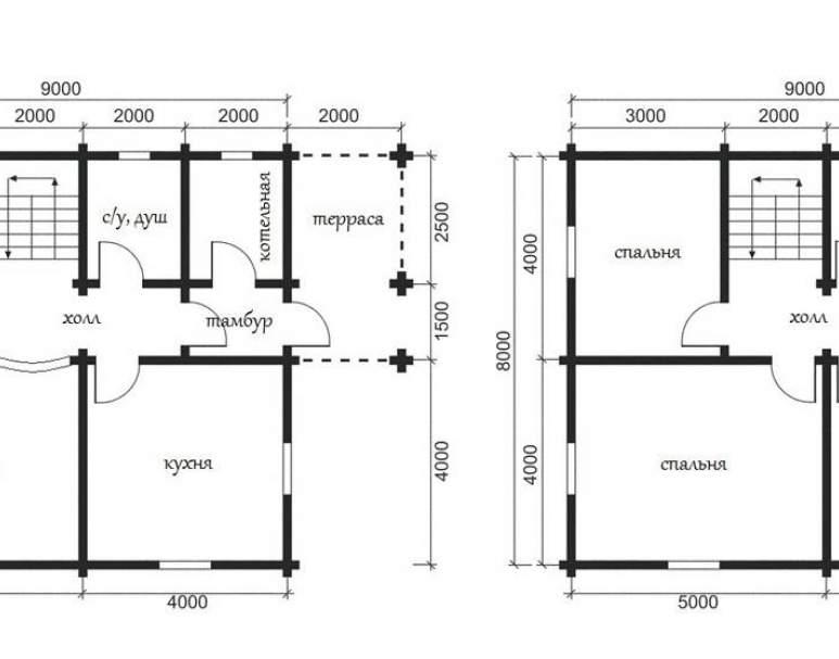 Дом из кругляка ОБ-27 (нажмите для увеличения)