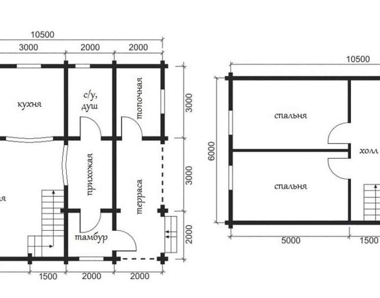 Дом из кругляка ОБ-29 (нажмите для увеличения)
